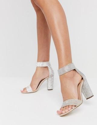 Call it SPRING vegan Walheim crystal block heel sandal