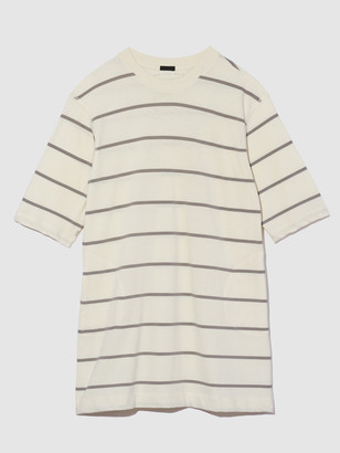ATM Anthony Thomas Melillo Plaited Jersey Stripe Dress