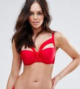 Asos Fuller Bust Exclusive Knot Front Longline Bikini Top Dd-G