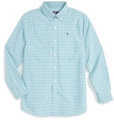 Vineyard Vines Boy's Beach Rose Plaid Whale Shirt