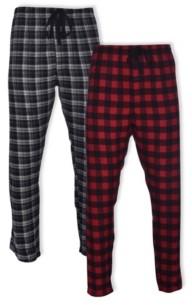 Hanes Men's Flannel Sleep Pant, 2 pack