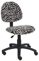 BOSS Zebra Print Microfiber Deluxe Posture Chair Office Products