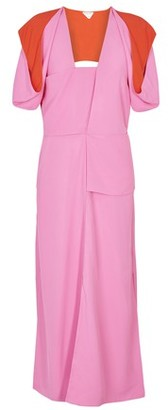 Bottega Veneta Midi puff sleeves dress