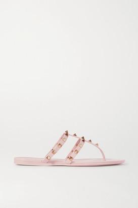 Valentino Garavani Rockstud Rubber Sandals - Pink