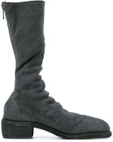Guidi fitted high boots - women - Linen/Flax/Leather - 37