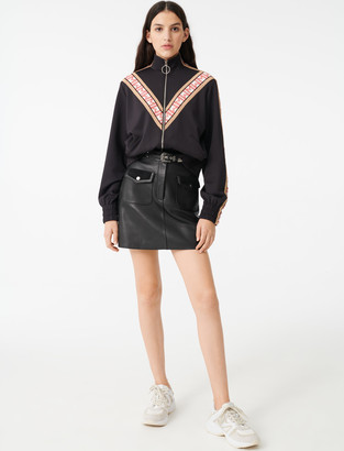 Maje Track jacket with contrasting bands