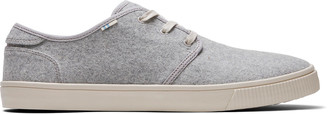 Toms Drizzle Grey Felt Men's Carlo Sneakers Topanga Collection