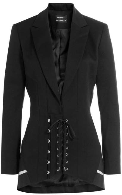Anthony Vaccarello Wool Corset Blazer