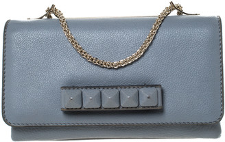 Valentino Grey Leather Va Va Voom Chain Shoulder Bag