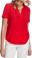 Court & Rowe Collared Short Sleeve Blouse