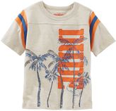Osh Kosh Boys 4-7 Football-Seam Graphic Tee