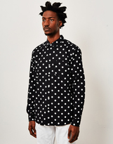 HUF BOB Long Sleeve Polka Dot Shirt Black