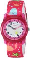 Timex Girls TW7C13600 Time Machines Elastic Fabric Strap Watch