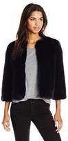 Ted Baker Women's Forysia Cropped Faux Fur Jacket