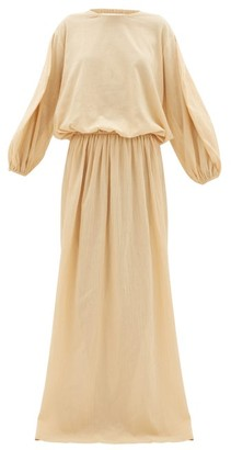 ALBUS LUMEN Licentia Draped Cotton Maxi Dress - Ivory