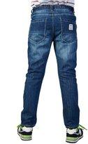 Leo&Lily Little Boys'Regular Fit Cat's whisker Denim Jeans