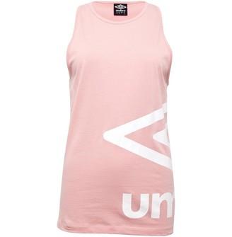Umbro Womens Active Style Large Logo Vest Pale Pink/White