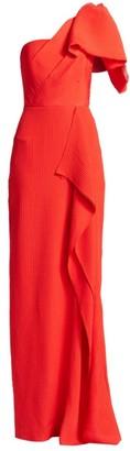 Roland Mouret Belhaven One-Shoulder Silk Gown