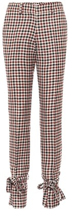 J.W.Anderson Checked wool skinny pants