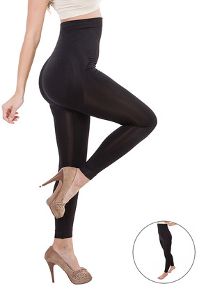 Formeasy FORMeasy Women's Leggings Black - Black Compression Footless High-Waist Tights Set - Plus Too - Women & Plus