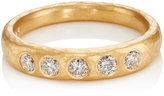 Malcolm Betts Women's White Diamond & Yellow Gold Tapered Band