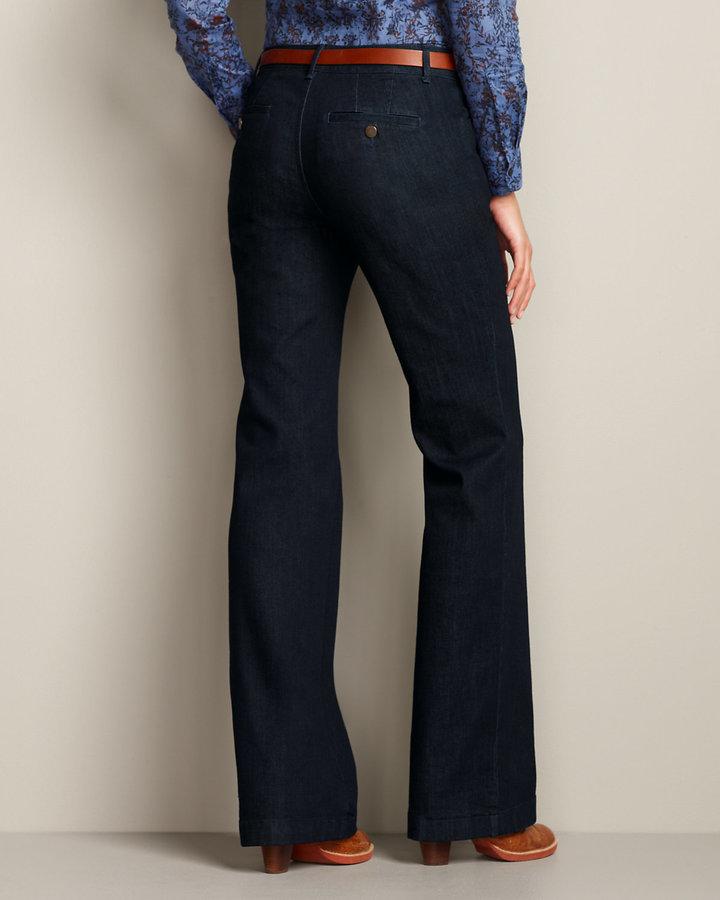 Eddie Bauer Women's Curvy Denim Trousers