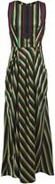 3.1 Phillip Lim Draped Striped Twill Maxi Dress