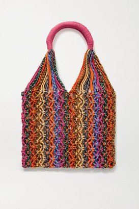 Nannacay Net Sustain Astrid Macrame Tote - Orange