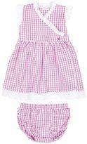 Jo-Jo JoJo Maman Bebe Gingham Dress W/ Knickers (Baby)-Pink-3-6 Months