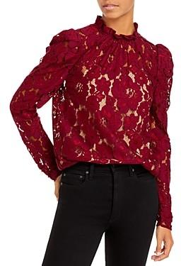 WAYF Erika Puff-Sleeve Lace Top