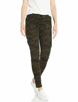 Daily Ritual Stretch Cotton/Lyocell Skinny Cargo Pant Olive Camo 8