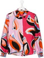 Emilio Pucci Junior TEEN graphic print silk shirt