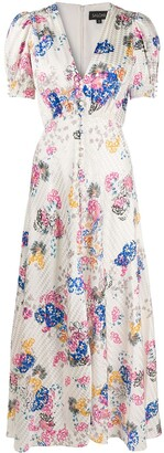 Saloni Floral-Print Dress