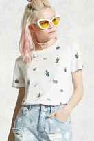 Forever 21 FOREVER 21+ Cactus Graphic Tee