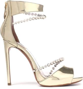 Alaia Bead-embellished Mirrored-leather And Pvc Sandals