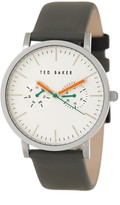 Ted Baker Men's Quartz Analog Leather Strap Watch