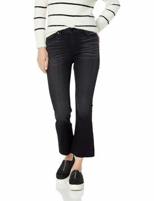 Hudson Women's Holly HIGH Rise Flare Crop RAW Hem 5 Pocket Jean