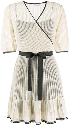 RED Valentino Knitted Wrap Dress