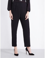Alice & Olivia Jessi Tapered Crepe Trousers