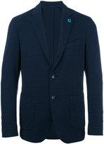 Lardini embossed pattern blazer