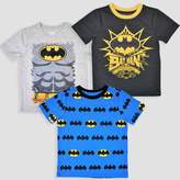 DC Comics Toddler Boys' 3pk DC Comics Batman Short Sleeve T-Shirt - Black/Blue/Gray