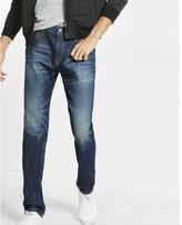 Express tapered leg loose fit dark wash jean
