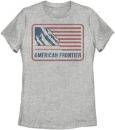 Unbranded Juniors' American Frontier Mountain Flag Design Tee