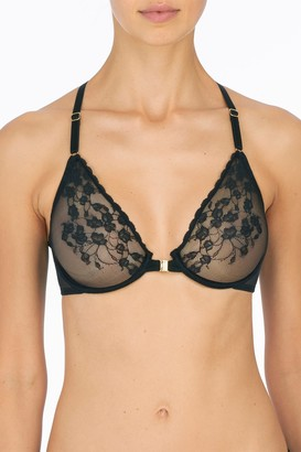 Natori Cherry Blossom Front-Close Unlined Underwire Bra