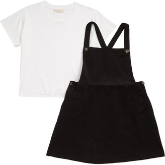 Walking on Sunshine Corduroy Pinafore & Tee Set
