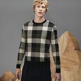 Lacoste Men's Fashion Show Crew Neck Wool Jacquard Check Sweater