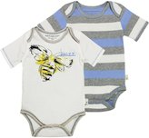 Burt's Bees Baby Buzz' And Stripe Bodysuits (Baby) - Eggshell-24 Months