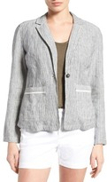 Caslon Linen One-Button Blazer (Petite)