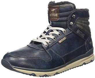 Mustang Men's High Top Sneaker Ankle Boots, Blue (Navy 820)