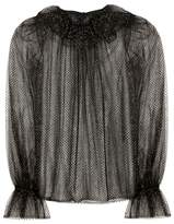 Dolce & Gabbana Metallic tulle top